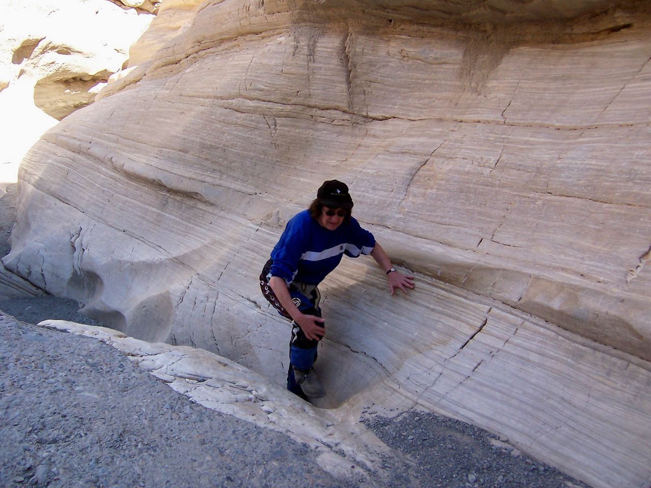 Just past Stovepipe Wells is this little Canyon which you have to hike, a dirty word I know.. It's called Mosaic Canyon..