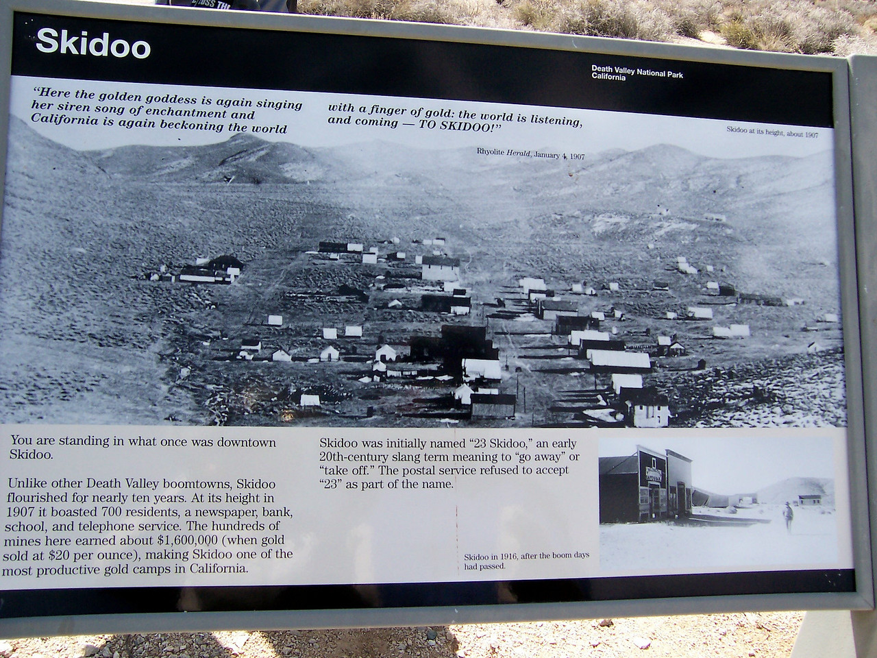 700 people lived up here and dug gold mines all over the place..over a 1,000 of them