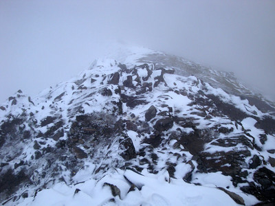 Screen slope below Snowdon from summit
