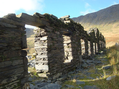 There are old miners' hut ruins, and old mines, scattered about the mountains.