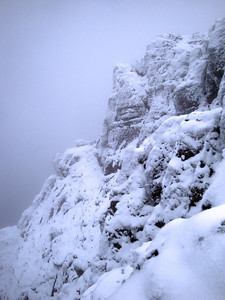 Screen slope below Snowdon from side