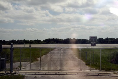 The runway of the Shuttle Landing Facility