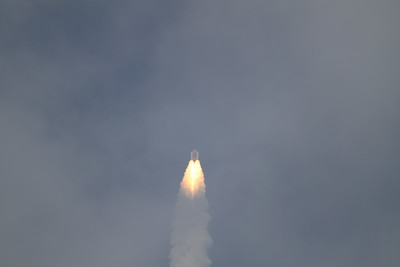 Atlantis, T plus 45 seconds after liftoff
