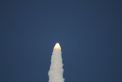 Atlantis, T plus 1 minute, 3 seconds after liftoff