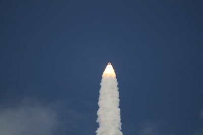 Atlantis, T plus 59 seconds after liftoff