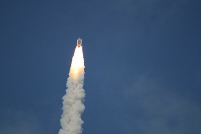 Atlantis, T plus 33 seconds after liftoff