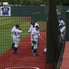 YC warm up for 5/18/2010 NAIA playoff opener.<br /> photo courtesy of Tim Herrell (YC class of '79)