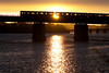 The Orange Line crossing the Mystic River on Dana Bridge near Wellington. April 27, 2010