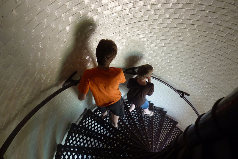 The lighthouse stairs