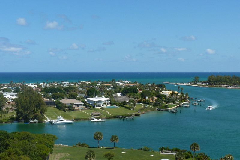 Looking towards Jupiter Inlet Colony & the Inlet