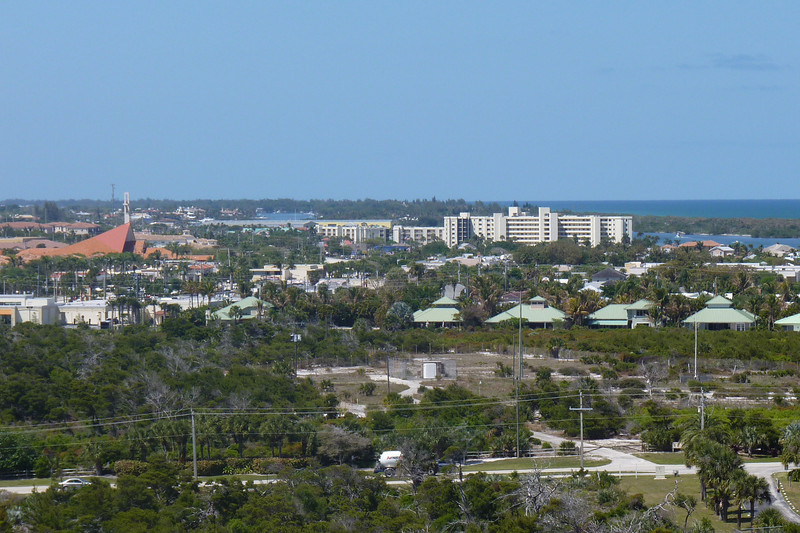 Looking towards Tequesta, with St. Luke's in the background.