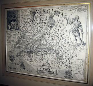 John Smith's 1612 map of Virginia