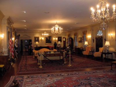 The John Quincy Adams State Drawing Room, one of the Diplomatic Reception Rooms