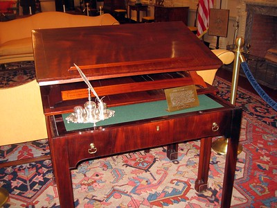 Desk on which Thomas Jefferson is believed to have written a portion of the Declaration of Independence