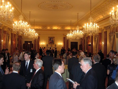 The Benjamin Franklin State Dining Room, one of the Diplomatic Reception Rooms