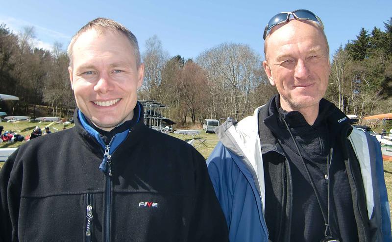 Frank Robert Blindheim (NSR) og Hans Magnus Grepperud (Ormsund Roklub)