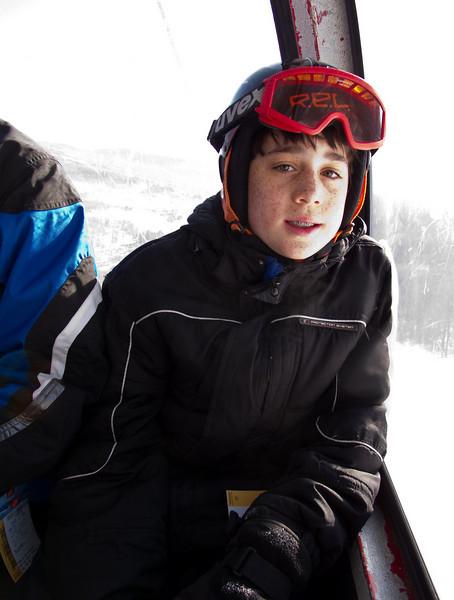 Benjamin in the gondola