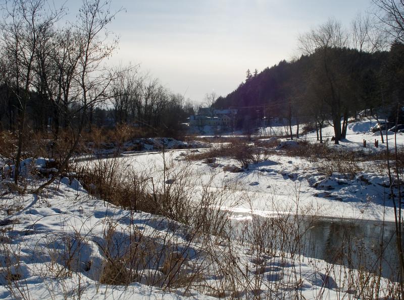 Stowe rec path, brook