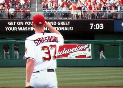 Stephen Strasburg takes the mound for the first time at Nationals Park