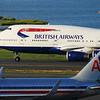 A BA 747 taxies to Terminal E at Logan.