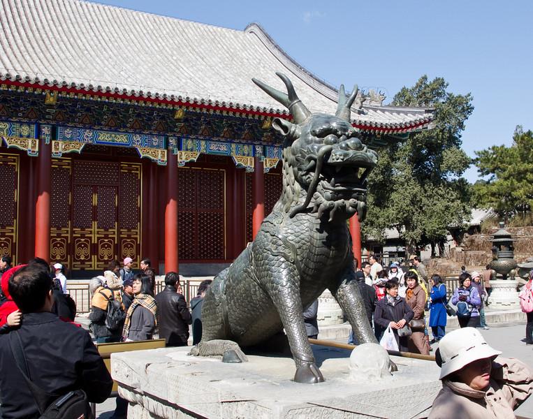 A qílín mythical creature near the East Palace Gate