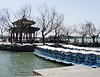 Boats docked at the Heralding Spring Pavilion