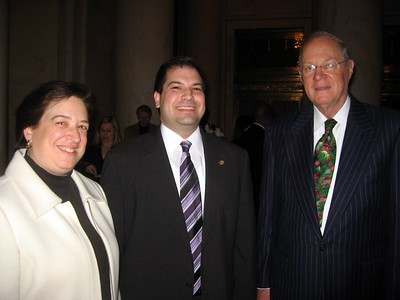 Craig (c) with Associate Justices Elena Kagan and Anthony Kennedy