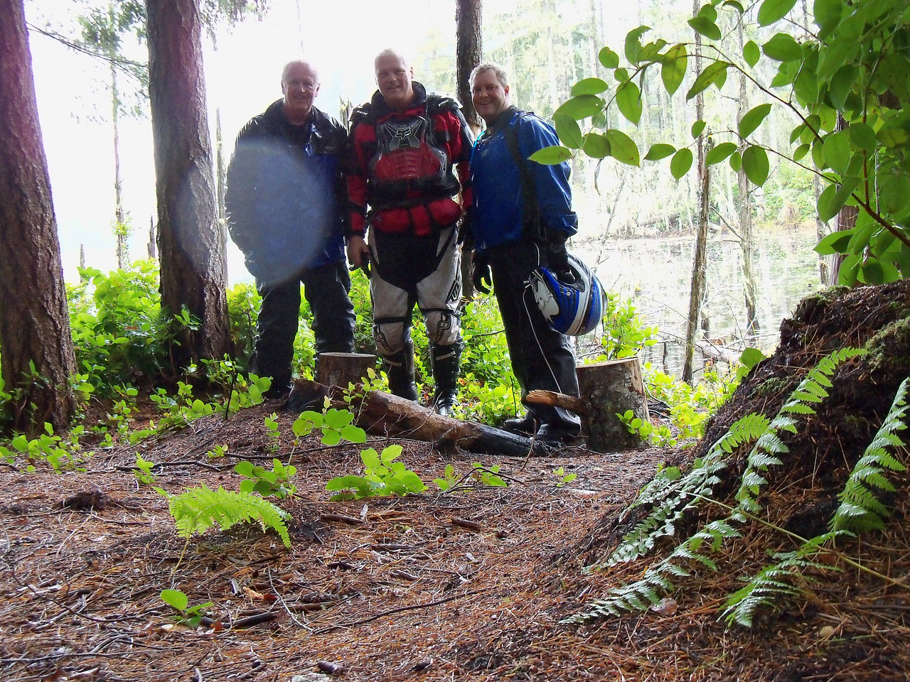 Lan, Steve, and Garrett at Section One Pond...