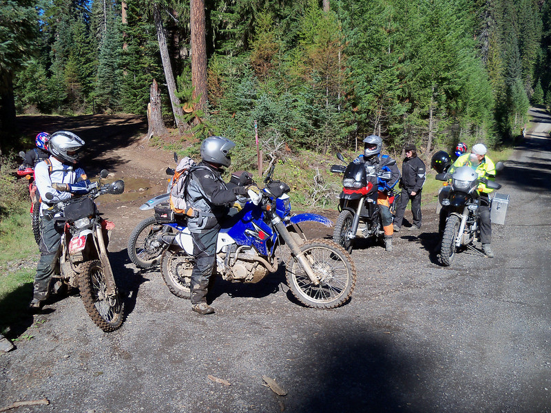 Mike, Bart, Dr. Dan, Craig, SS, and Cannon Stove John at the end of Naches Trail..
