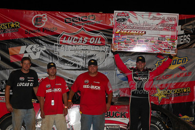 Brad Neat and crew in Victory Lane @ Tazewell Speedway