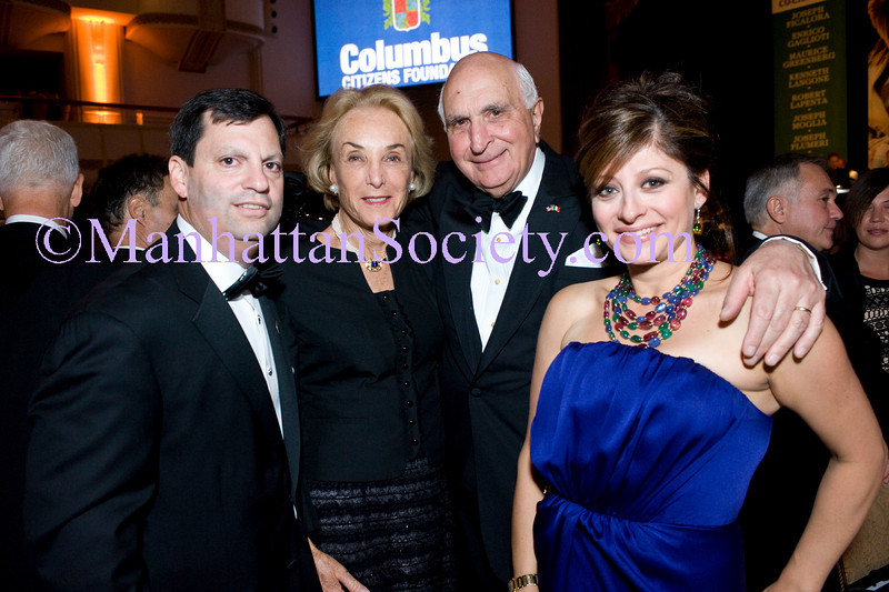 NEW YORK-OCTOBER 9:  Frank Bisignano, Elaine Langone, Ken Langone, Maria Bartiromo attend The Columbus Citizens Foundation 66th Annual Gala Dinner on Saturday, October 9, 2010 at The Grand Ballroom, Waldorf Astoria Hotel, New York City. NY (PHOTO CREDIT: ©Manhattan Society.com 2010 by Christopher London)