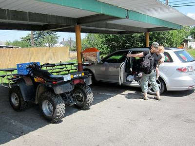 ATVs outnumber cars at the drive-in
