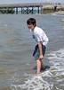 Benjamin in the water
