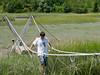 Benjamin on the rope bridge