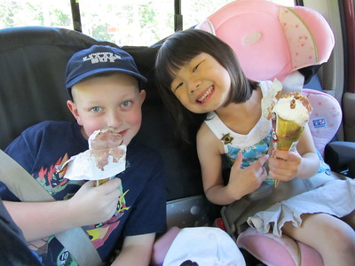 Ice cream after the forestry center