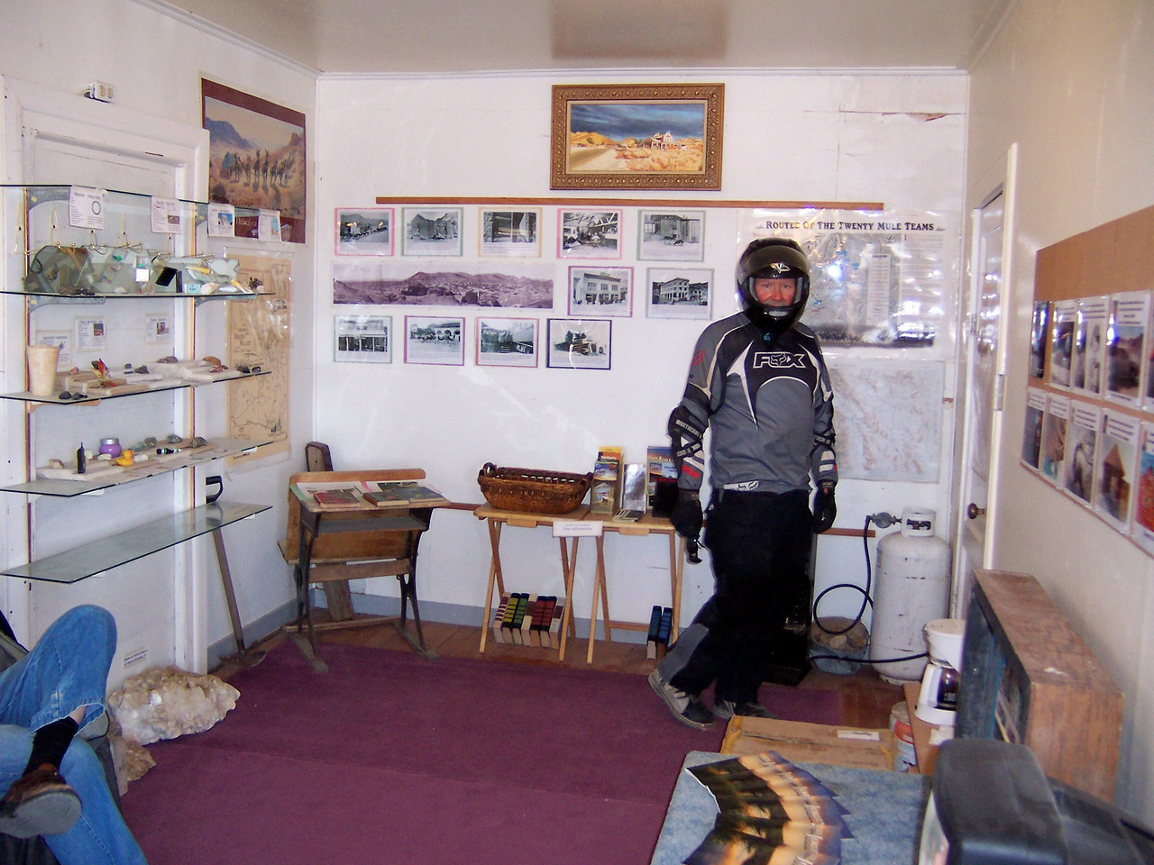 Paul checking out the little museum.