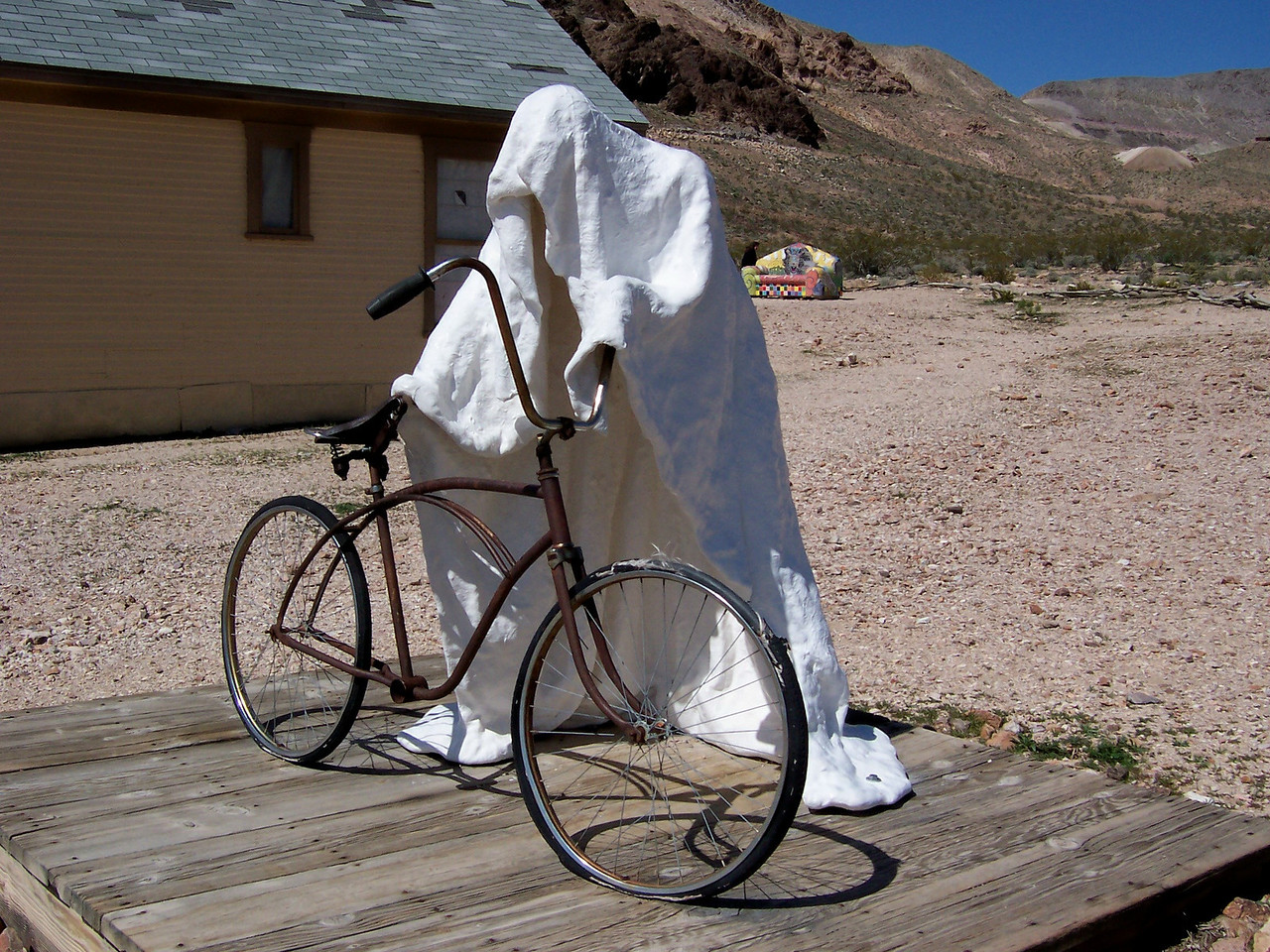 A ghost in a ghost town?