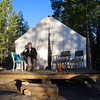 Rising early at one of Vermilion Resort's tent cabins