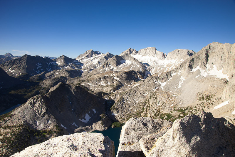Mt. Abbot and environs from above Mono Pass