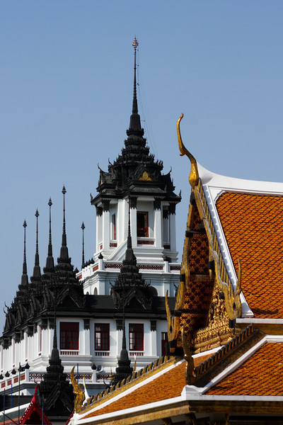 Temple roofs sport beautiful architecture that can only be categorized as art.