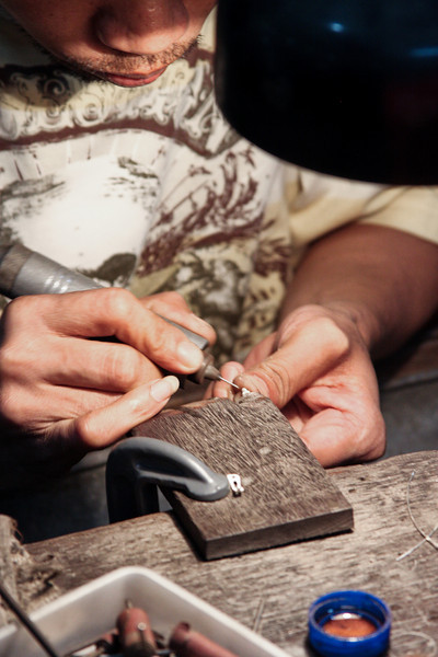 Intricate details are perfected on jewelry pieces with speed and efficiency that confounds the mind.