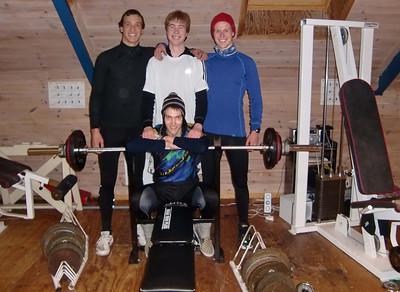 Asbjørn Skogen, Trygve Bendz Aarrestad, Marcus Hoseth Bentzen og foran Thomas Sunde Dale