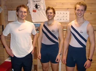 Arne, Stein Andreas og MArcus klar til ny økt.