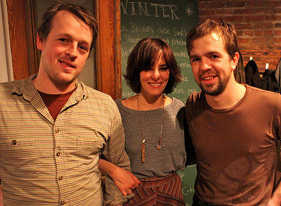 Jonny and Ben with Parker Posey.