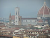 The Duomo of Firenze as seen from Piazzale Michelangelo; background hills are obscured by a thundershower.