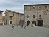 Piazza  Silvestri,  Bevagna, Umbria; a portion of the decommissioned church San Silvestro is at the far right.