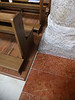 Wooden flooring supporting pews in San Michele Arcangelo, Bevagna, Umbria.