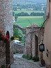 Spello, looking down the alley toward Il Trombone ristorante.   The next few dozen images were all taken in Spello.