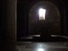 Crypt beneath raised presbytery, San Silvestro (deconsecrated), Bevagna, Umbria. Natural (lack of) light.