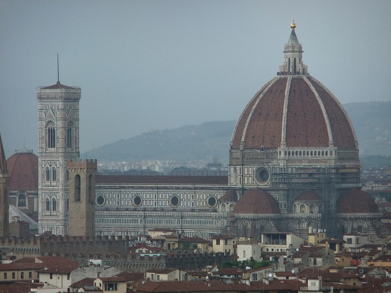 The Duomo and its campanile in Firenze as seen from Piazzale Michelangelo.